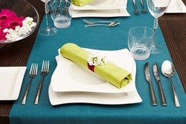Full place setting with cutlery